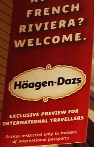 El polémico cartel de Häagen-Dazs.