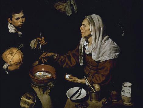 La 'Vieja friendo huevos' de Velázquez.