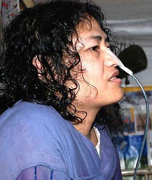 Irom Sharmila. (Foto: www.manipurfreedom.org)