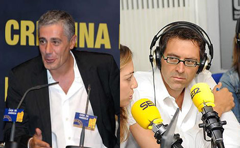 Daniel Anido, director de la Ser, y Rodolfo Irago, jefe de informativos de la cadena.