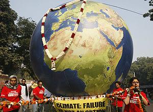 Protesta de Greenpeace en Nueva Delhi. | Reuters