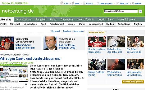 Imagen de la editorial publicada en la 'web' del diario alemán 'Netzeitung'.