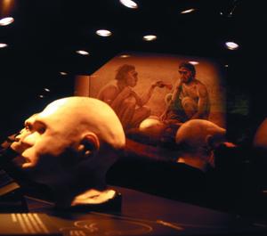 Reconstucción del 'Homo Antecessor' en una exposición en Barcelona.