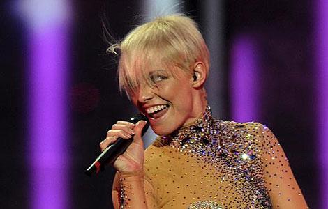 Soraya Arnelas en un momento de su actuación en Eurovisión. (Foto: Dimitry Kostyukov / AF)
