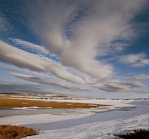 Imagen de una zona de la Antártida, con muestras del deshielo gradual que se esta produciendo en la tundra.