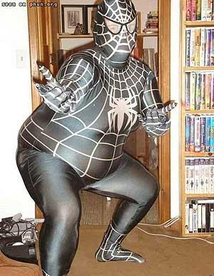 Y un disfraz de Spiderman malo, también.