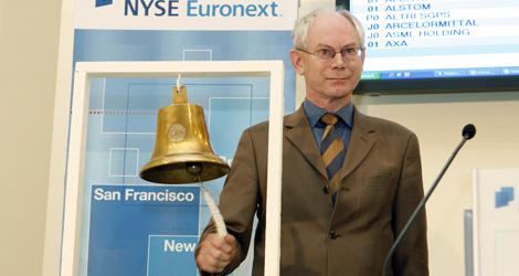 Van Rompuy abre la bolsa de Bruselas. | Reuters