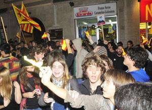 Quema de banderas de España | Alberto Vera