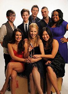 Protagonistas de 'Glee'.