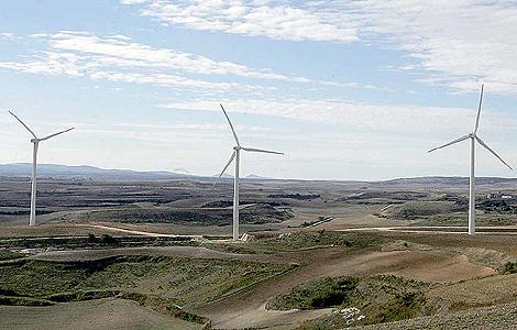 Un parque eólico en la provincia de Burgos.  Toño Gallego