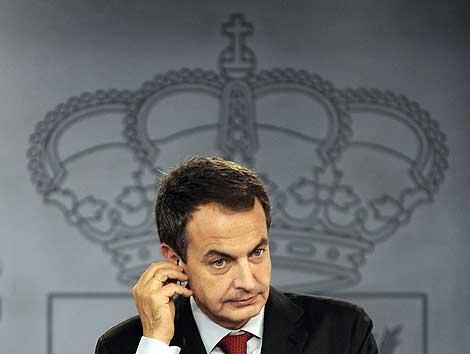 El presidente del Gobierno, José Luis Rodríguez Zapatero.   Afp