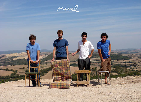 Los componentes del grupo Manel.