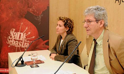 Calvo junto a Grosske en la presentación. | Pep Vicens