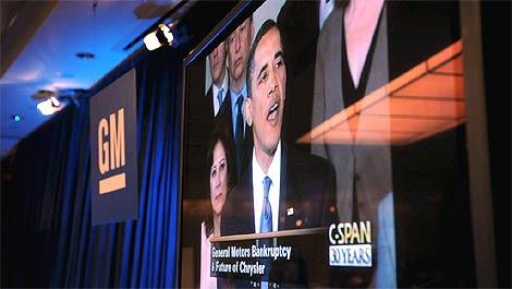 Barack Obama, durante una comparecencia recogida por las televisiones. | Afp