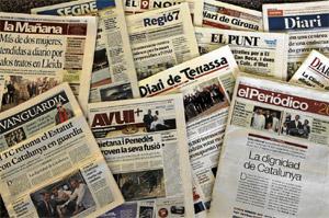 El editorial conjunto de los medios catalanes.