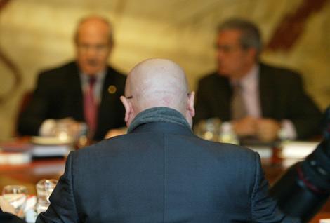 Tresserras, esta mañana, en el Consell Executiu. | Domènec Umbert