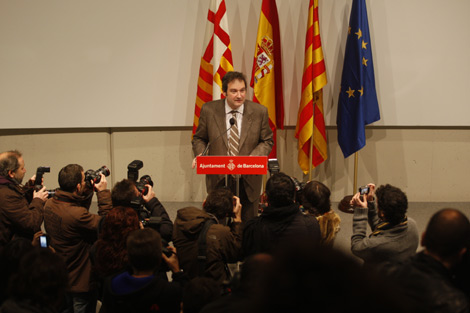 Hereu, en la presentación, ante una gran expectación. | Antonio Moreno
