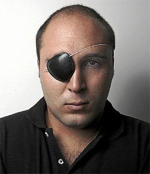 Paquirrín posa con un parche de pirata. (Foto: A. Heredia)