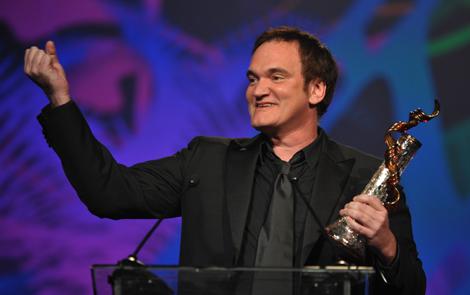 Quentin Tarantino recoge un premio en el Festival Internacional de Palm Springs.   Afp