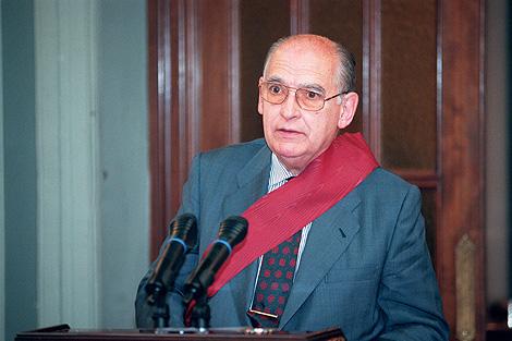 Homenaje a Fontán por su etapa como director del diario 'Madrid'. | Carlos Barajas