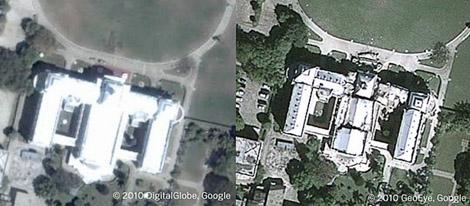El antes y después del palacio presidencial. | www.readwriteweb.com