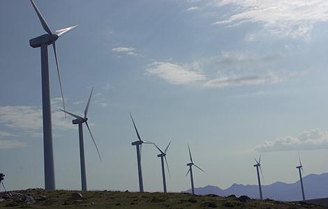 Un parque eólico en el País Vasco.   Foto: Julio Carlos
