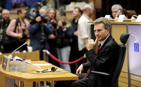 El candidato Oettinger.   AFP