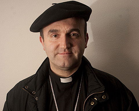 El obispo de San Sebastián, José Ignacio Munilla, en la diócesis guipuzcoana. | Justy García Koch