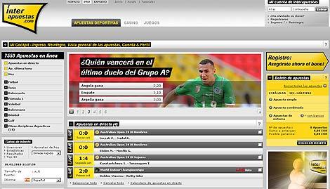 Pantalla del sitio interapuestas.com