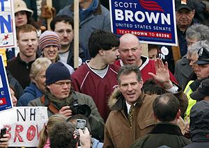 El republicano Scott Brown en un acto en Massachusetts. | AP