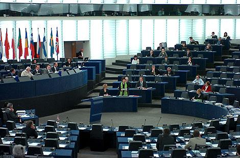 Ashton, durante su intervención en la sesión del Parlamento Europeo. | Efe