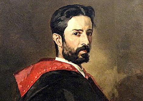 Retrato de Mariano Pardo de Figueroa en 1860 firmado por Franz Bruschen.