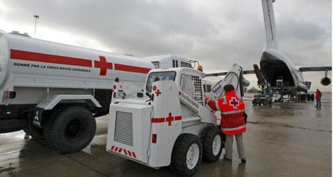 Avión de ayuda humanitaria de Cruz Roja | Efe