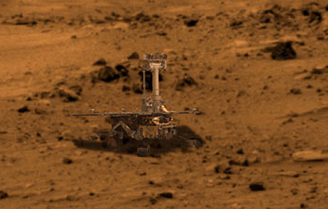 El robot 'Spirit' llegó a Marte hace seis años.   NASA