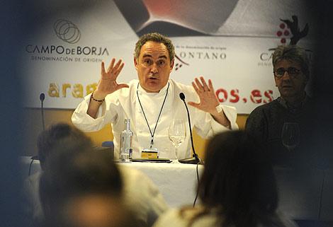 Ferrán Adriá en Madrid Fusión 2010. | Afp.