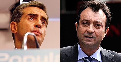 Costa, ex secretario general del PP valenciano, y Cobo, vicealcalde de Madrid. | EL MUNDO