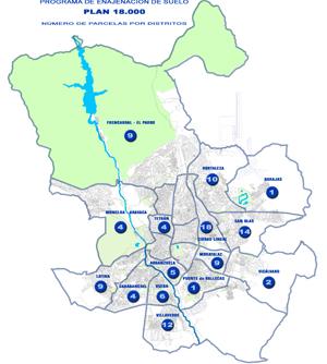 Distribución por distritos de las viviendas del Plan 18.000. | ELMUNDO.es