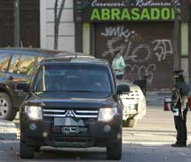 La llegada de los detenidos a la Audiencia Nacional. | Efe