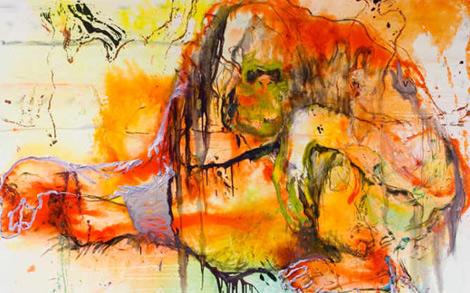 What goes around comes around, de Tra Bouscaren, una de las artistas expositoras.