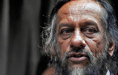 Rajendra Pachauri, durante una rueda de prensa en Nueva Delhi la pasada semana.| AFP