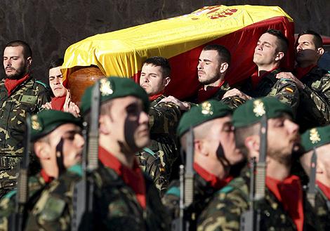 Funeral por el soldado español John Felipe Romero, muerto en Afganistán. | Efe