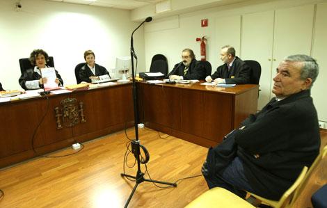 Manel Nevot, durante el juicio, esta mañana. | Quique García