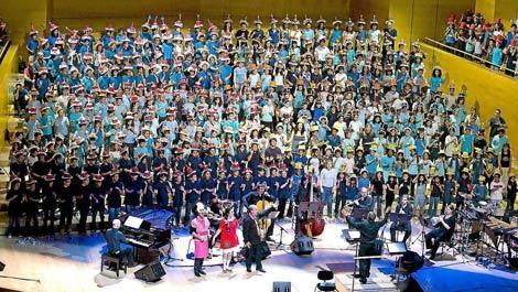 Imagen de uno de los conciertos de 'Cantania' celebrados en el Auditorio de Barcelona.