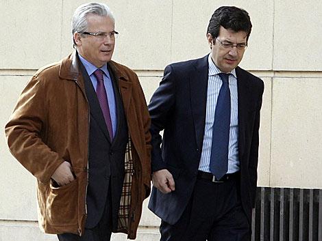 El juez Garzón, al llegar a la Audiencia Nacional. | Reuters