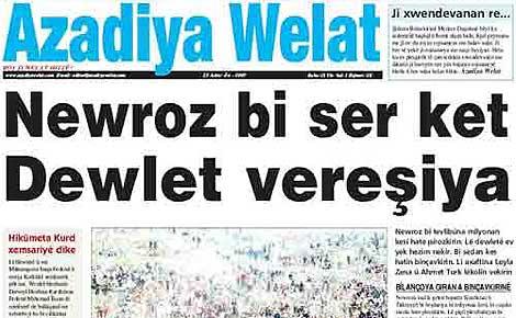 'Azadiya Welat' el diario kurdo cuyo director ha sido encarcelado
