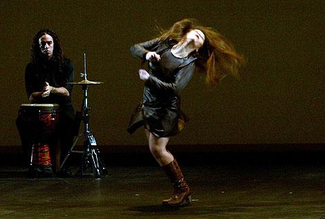 Rocío Molina, en plena actuación. | Ap