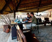 Los investigadores, en Namibia. | S.C.S.