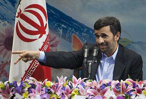 El presidente iraní, Mahmud Ahmadineyad, en un discurso el pasado 16 de febrero. | Reuters