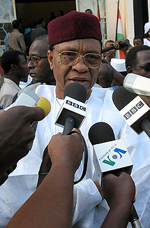 El presidente derrocado Tandja. | Afp