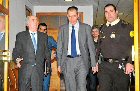 Flaquer a su llegada a los juzgados para declarar. | Alberto Vera